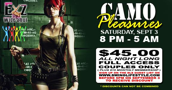 SLS Camo Pleasures Party