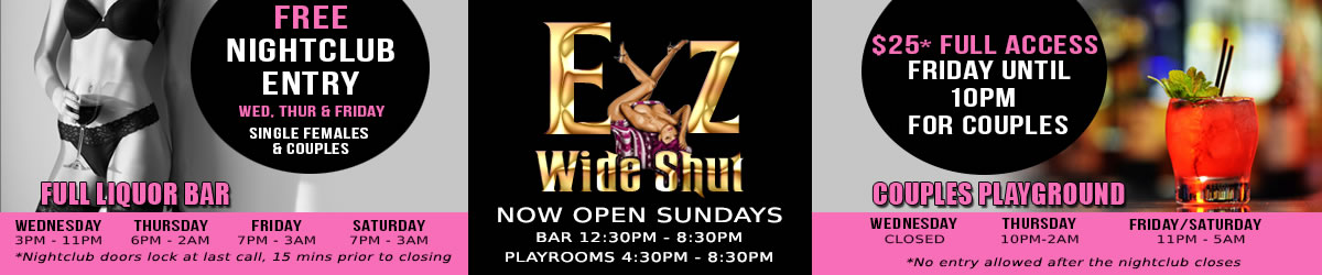 Eyz Wide Shut Tampa Swing Club florida swingers, adult nightclub and lodging